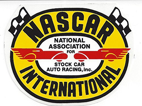 NASCAR International Racing Decal Sticker 3-1/2 Inches Long Size Vintage ()
