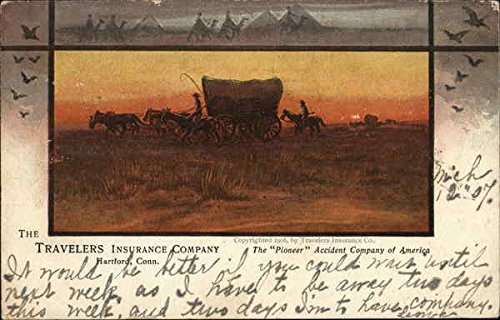 Vintage Advertising Postcard: The Travelers Insurance Company Advertising