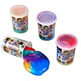 Galaxy Slime Kit 4-Pack - Colorful Fidget Putty Toy for Kids