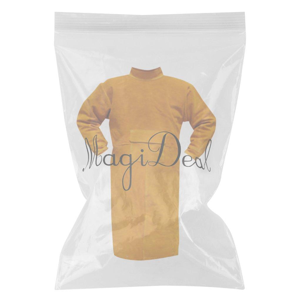 150cm Orange MagiDeal Combinaison de Soudage en Cuir de Vache Ignifug/é V/êtement de Protection pour Soudeur