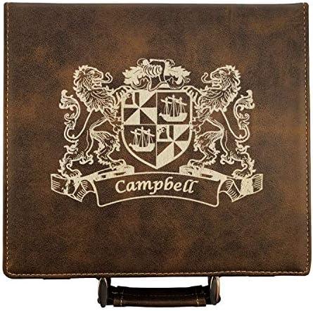 Collins Irish Coat of Arms Leather Poker Set