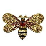 Honey Bee Swarovski Crystal Pin Insect Brooch Pin Women Jewelry Sweater Shawl Scarf Buckle