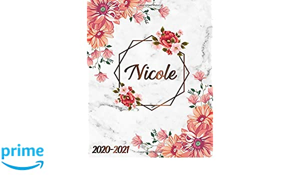 Nicole: 2020-2021 Two-Year Weekly & Monthly Planner | 2 Year ...