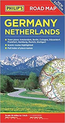 Philips Germany And Netherlands Road Map Philips - Netherlands germany map
