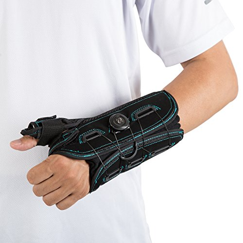 Thumb and Wrist Spica Splint, Stabilizer Support Brace for Pain, Strain, Sprain, Arthritis, Carpal Tunnel – Left Hand M by Medibot