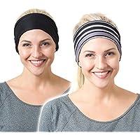 RiptGear Yoga Headbands Women Men - Wide Non Slip Design...