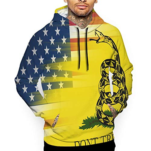 JALYOPEN Long Sleeve Men's Before and Afterp 3D Print Gadsden Flag Hoodie Shirt Sweater ()