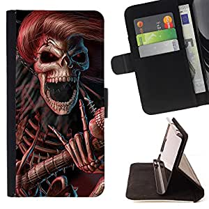 Pattern Queen - Skull Devil Diablo - FOR Samsung Galaxy Note 4 IV - Hard Case Cover Shell