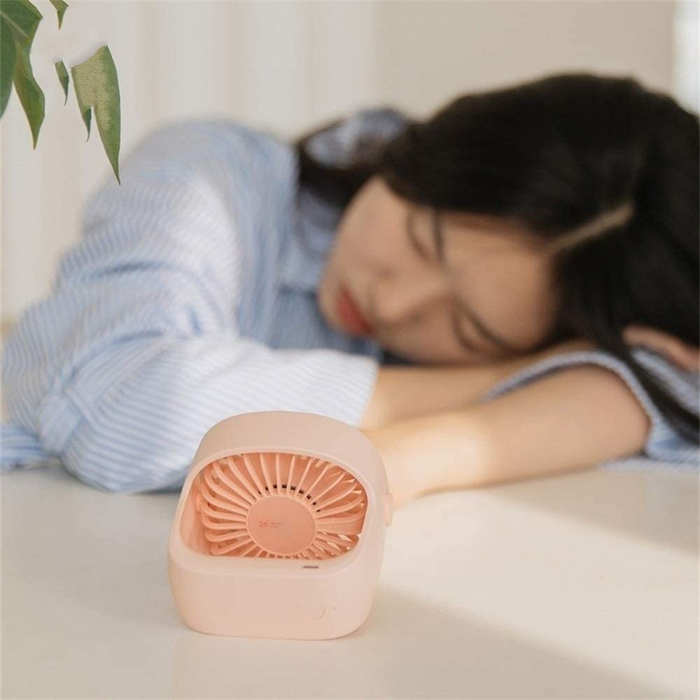 XIANGNAIZUI Portable USB Fan Desktop Fan Silent 3 Speed Fans Home Student Dormitory Bedside Desktop Office Fan Color : Blue