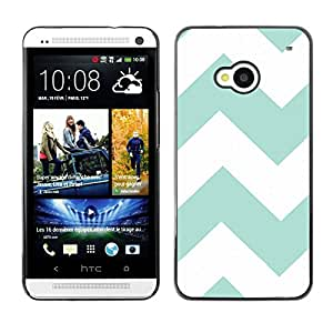 - Chevron Pattern V shapes - - Monedero pared Design Premium cuero del tir¨®n magn¨¦tico delgado del caso de la cubierta pata de ca FOR HTC 801e HTC One M7 Funny House