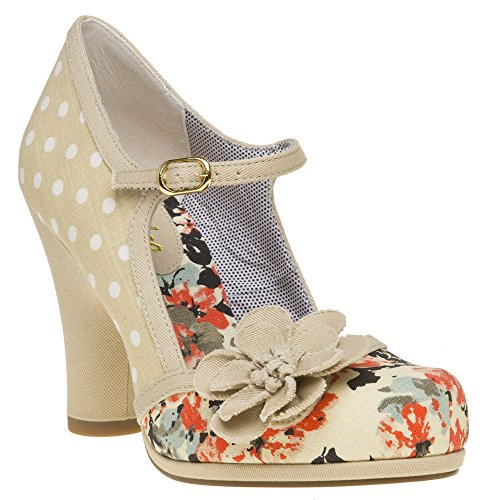 62739405bccdf Ruby Shoo Women's Beige Tanya Mary Jane Pumps UK 5 EU 38