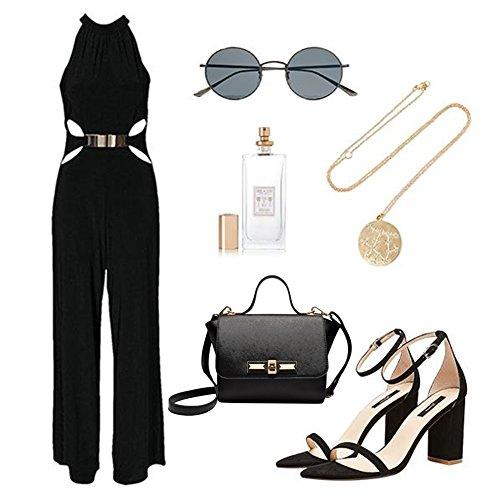 Yoome patrón cruz patrón retro alas de los murciélagos mini bolsos para las mujeres elegantes bolsos para las chicas universitarias - Gris Gris