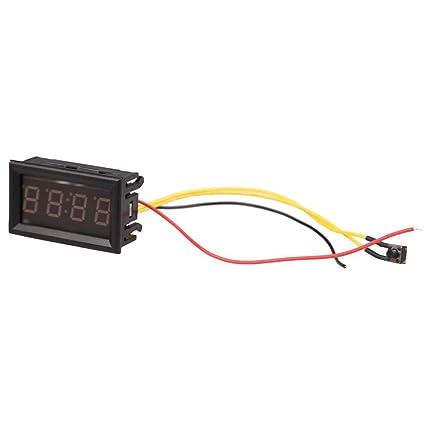 Reloj electronico digital de coche - SODIAL(R) LED reloj electronico digital de 4