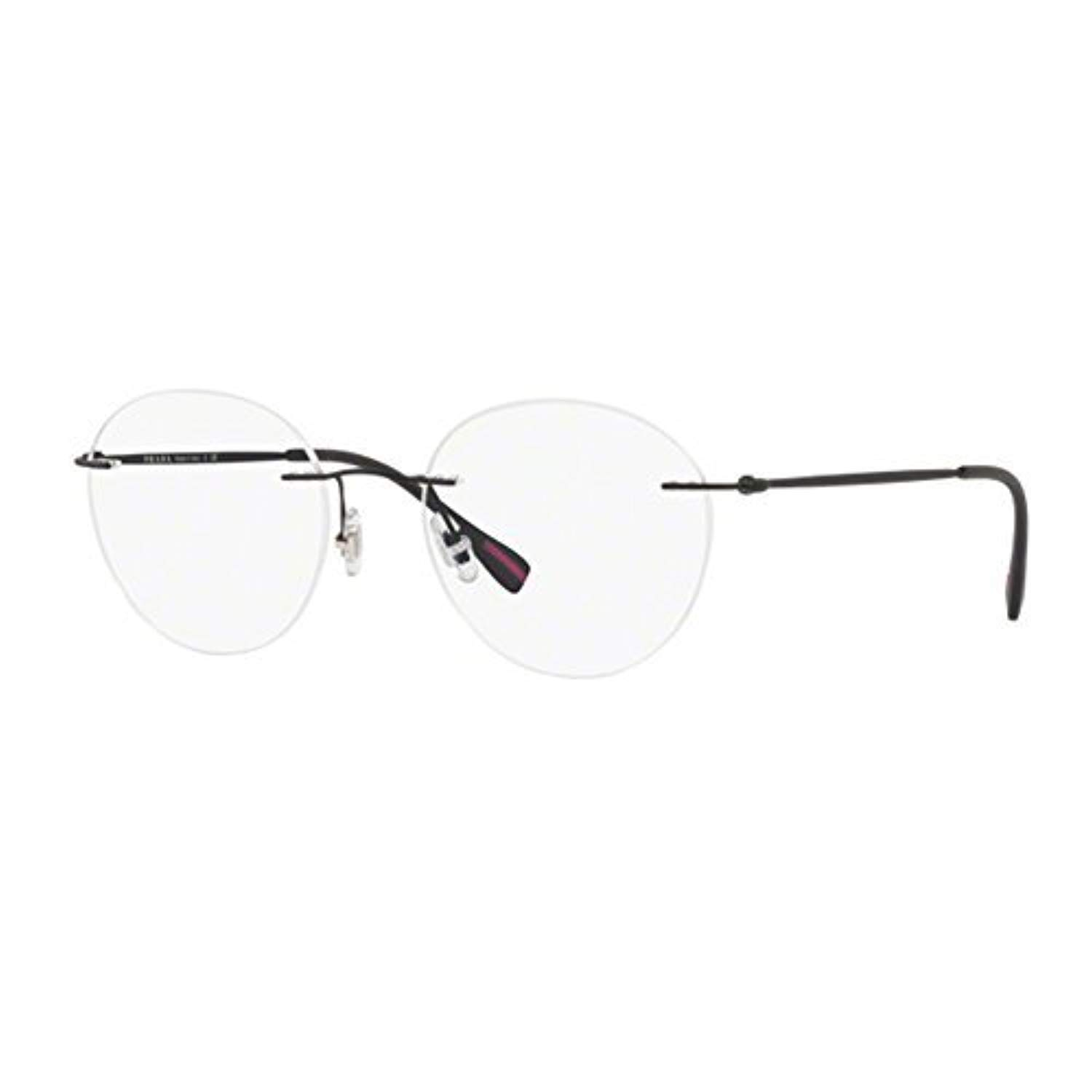 6010734ec1 Eyeglasses Prada Linea Rossa PS 52 IV DG01O1 BLACK RUBBER  Amazon.co.uk   Clothing
