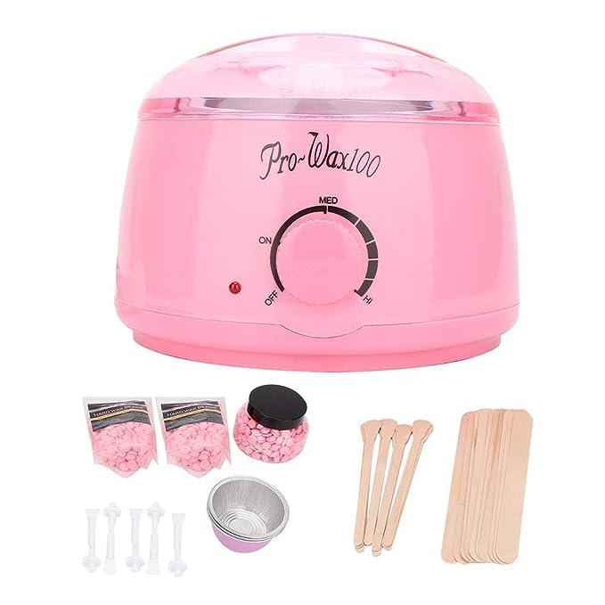 Kit de depilación con cera para el hogar, calentador de frijoles ...