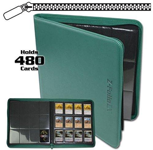 BCW Z-Folio LX Zipper Portfolio Teal 12 Pocket Playset Album by 12-Pocket Z-Folio
