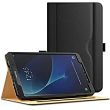 "MoKo Samsung Galaxy Tab A 10.1 Case - Stand Folio Cover [with Document Card Slots, Multiple Viewing angles and Auto Wake/Sleep] for Galaxy Tab A 10.1"" 2016 Tablet(SM-T580/T585, No Pen Version), BLACK"