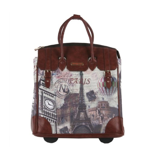 Nicole Lee Fiona Rolling Business Tote, Paris, One - 16 Wheeled Tote