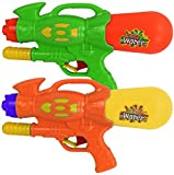 2 x Super Spray 30cm Pump Action Water Gun Pistol Soakers