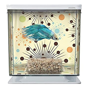 Marina Betta Aquarium Starter Kit, Boy Fireworks