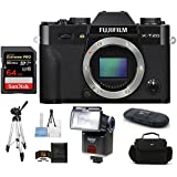 Fujifilm X-T20 Mirrorless Digital Camera Body (Black) Bundle, Includes 64GB Extreme PRO SDXC Memory Card + Camera Bag + Tripod + more.