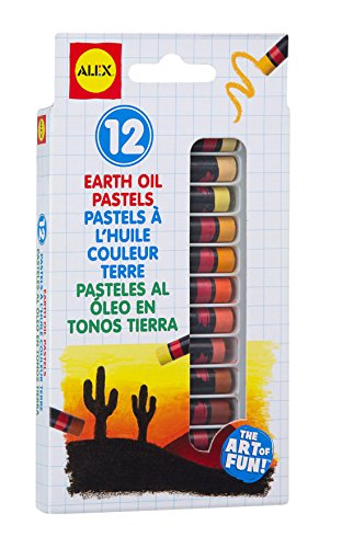 Pastels Oil Metallic (ALEX Toys Artist Studio 12 Earth Oil Pastels)
