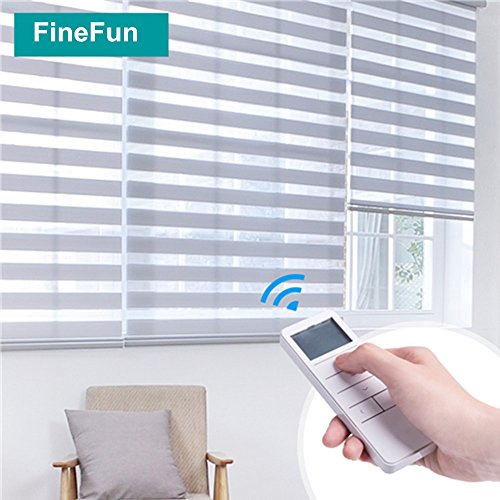 Tubular Roller Shade Motor Kit with Remote Control for Motorized Electric Roller Blind Shades (Wired) by FineFun (Image #2)