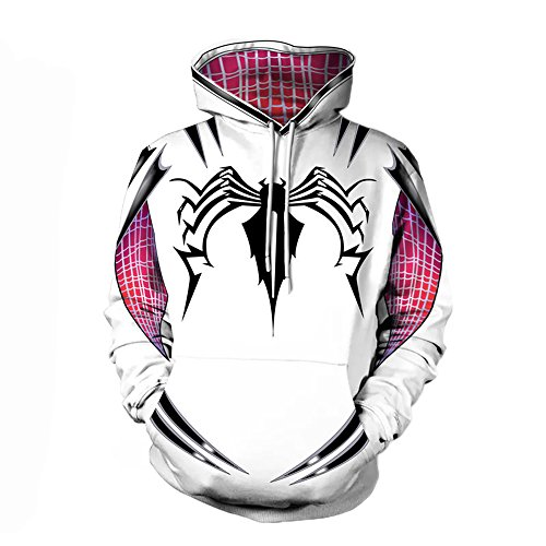 - 513Gs6K0IkL - Alwoe Gwen Spider Unisex Adult Hooded Sweatshirt Cosplay Clothing