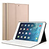 LUCKYDIY iPad Air/Air 2 Keyboard Case, Ultra Slim Stand Cover+Magnetical Detachable Wireless Bluetooth Keyboard for Apple iPad Air1/Air2