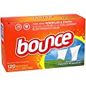 120 Ct. Bounce Fabric Softener Dryer Sheets for Static Control