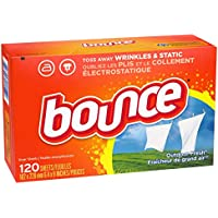 120 Count Bounce Fabric Softener Dryer Sheets for Static Control