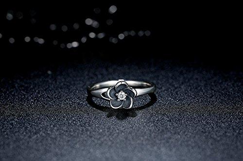 Amazon.com: Dixey Luxury Anillos Sortijas 18k de Compromiso Aniversario Matrimonio Boda Oro Plata Anel De Ouro Prata 925 Joyeria Fina Para Mujer RI0011: ...