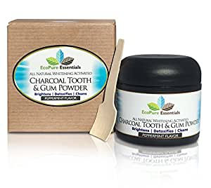 All Natural, Whitening, Activated Charcoal Tooth and Gum Powder with Bentonite Clay by EcoPure Essentials. Whiten, Detox and Clean Your Teeth Naturally. Fights Stains, Bad Breath and Bacteria.