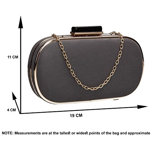 Box Party Maeve SWANKYSWANS Prom Gold Grey Clutch Trim Bag Womens U7gwwOq