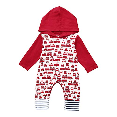 Price comparison product image PLENTOP 2019 Baby Clothing Dividers,  Xmas Newborn Baby Boy Girl Car Hooded Romper Jumpsuit Christmas Clothes Outfits