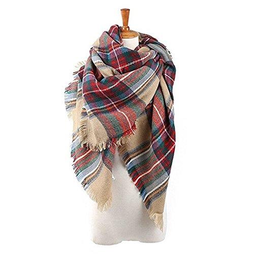 Echo Paths Stylish Warm Blanket Scarf Gorgeous Wrap Shawl Brown Red One Size by Echo Paths