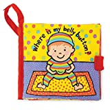 Jellycat Soft Cloth Books for Baby, Where is My Belly Button