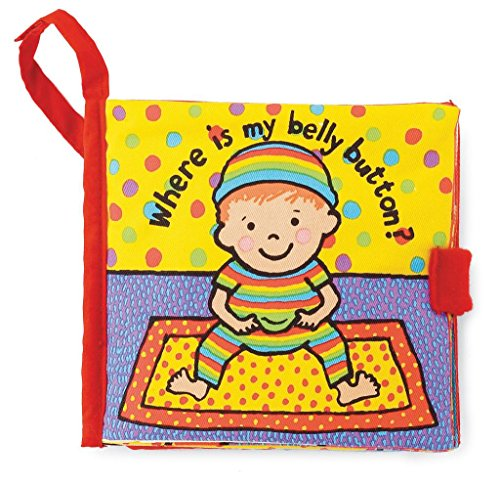 - Jellycat Soft Cloth Books, Where is My Belly Button