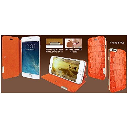 Piel Frama 686CON Etui rigide de protection design Crocodile pour iPhone 6 Plus Orange