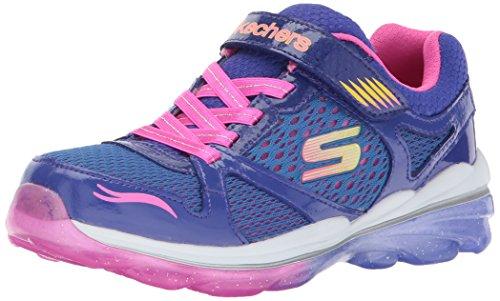 Skechers Kids Girls Air Deluxe-Lux Life Sneaker,Blue/Pink,