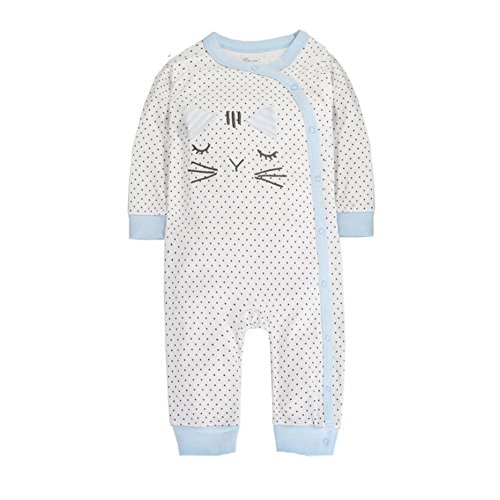 [CuteOn Unisex Baby | Newborn | Round Collar | 100% Cotton | Bodysuit Jumpsuit Kitty 18 Months] (Kitty Newborn Baby Costumes)