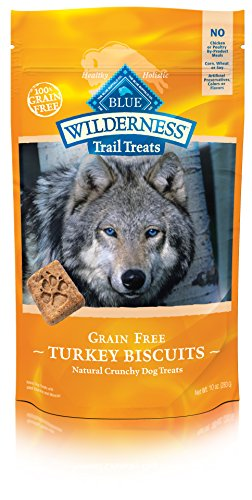 BLUE Wilderness Trail Treats Grain Free Turkey Biscuits Dog Treats 10-oz