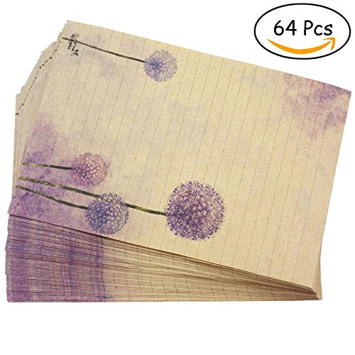 Bolbove 64 Pcs Lovely Plant Elegant Dandelion Letter Writing Stationery Paper Lined Sheets (Printable Halloween Story Paper)