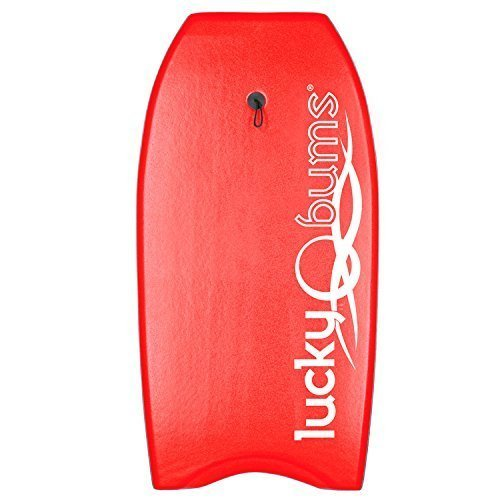 Lucky Bums Body Board with EPS Core, Slick Bottom, and Leash