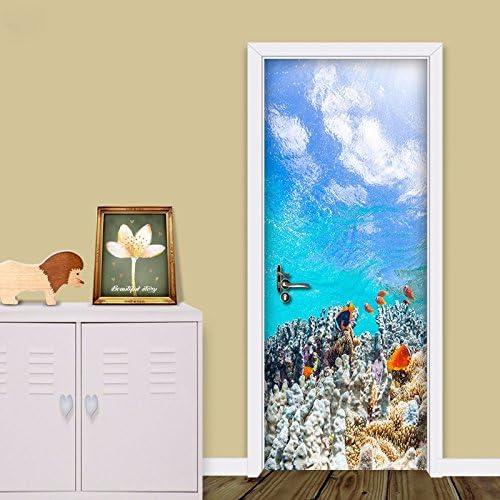Pegatina de puerta, puerta de madera, renovación, autoadhesivo del ...