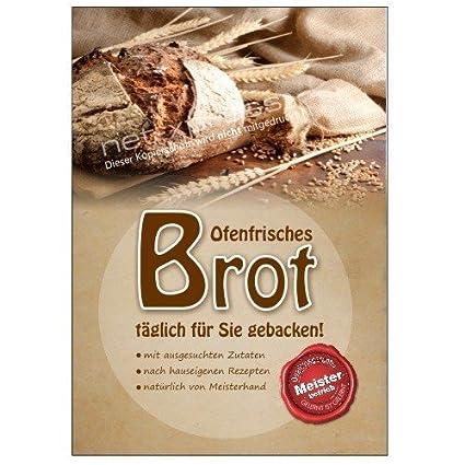 Brot-Plakat para Handwerksbäckerei Din A1, Cartel de ...