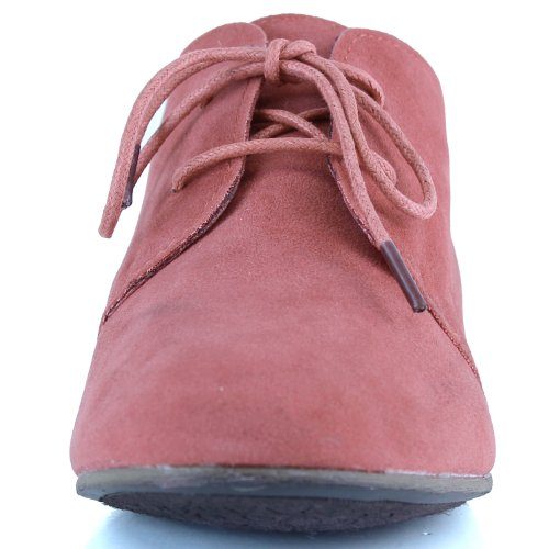 Womens Classic Lace up Flat Ballet Loafers Oxford Sneaker Shoes Rose gtacHsN