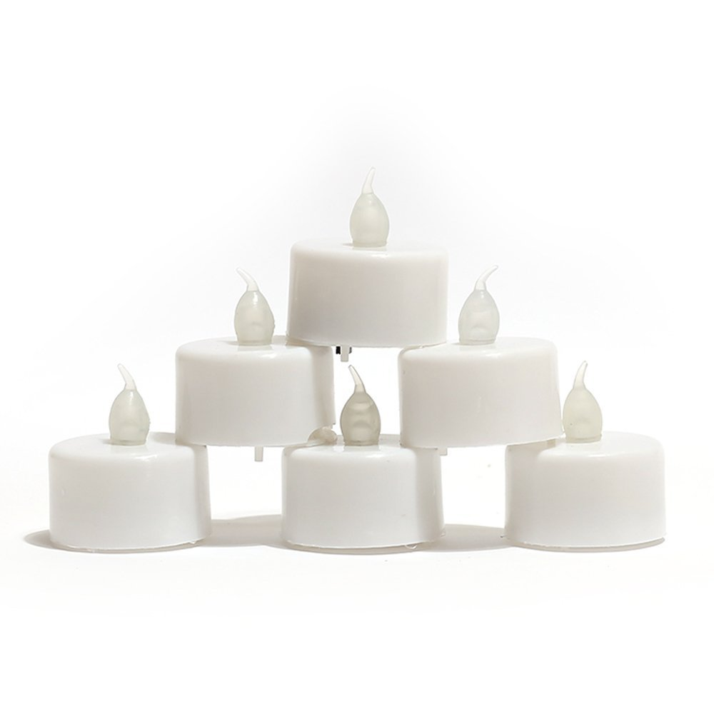 12 Battery Operated LED Tealight Candles: Flameless & Heatless