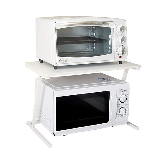 LAOSUNJIA Horno de microondas Estante Cocina Acero al Carbono ...
