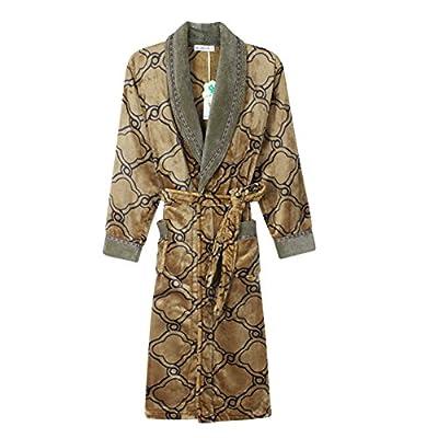 Men's Long Coral Velvet Robe/Thicker Bathrobes